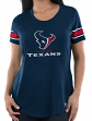 "Houston Texans Women's Majestic NFL ""Tailgate"" Scoop Neck Fashion Top Shirt"