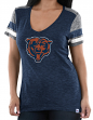 "Chicago Bears Women's Majestic NFL ""Classic Moment"" V-neck Fashion Top Shirt"