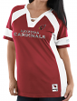 "Arizona Cardinals Women's Majestic NFL ""Draft Me 3"" Jersey Top Shirt - Red"
