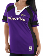 "Baltimore Ravens Women's Majestic NFL ""Draft Me 3"" Jersey Top Shirt - Purple"