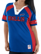 "Buffalo Bills Women's Majestic NFL ""Draft Me 3"" Jersey Top Shirt - Blue"