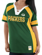 "Green Bay Packers Women's Majestic NFL ""Draft Me 3"" Jersey Top Shirt - Green"