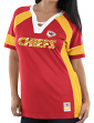 "Kansas City Chiefs Women's Majestic NFL ""Draft Me 3"" Jersey Top Shirt - Red"