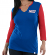 "New York Giants Women's Majestic NFL ""Game Legend"" 3/4 Sleeve V-Notch Shirt"