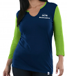 "Seattle Seahawks Women's Majestic NFL ""Game Legend"" 3/4 Sleeve V-Notch Shirt"