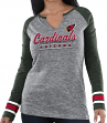 "Arizona Cardinals Women's Majestic NFL ""Lead Play 3"" Long Sleeve Raglan Shirt"