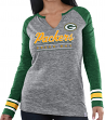 "Green Bay Packers Women's Majestic NFL ""Lead Play 3"" Long Sleeve Raglan Shirt"
