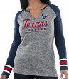 "Houston Texans Women's Majestic NFL ""Lead Play 3"" Long Sleeve Raglan Shirt"