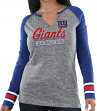 "New York Giants Women's Majestic NFL ""Lead Play 3"" Long Sleeve Raglan Shirt"