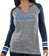 "Los Angeles Chargers Women's Majestic NFL ""Lead Play 3"" Long Sleeve Raglan Shirt"