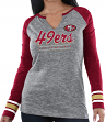 "San Francisco 49ers Women's Majestic NFL ""Lead Play 3"" Long Sleeve Raglan Shirt"