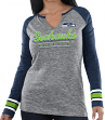 "Seattle Seahawks Women's Majestic NFL ""Lead Play 3"" Long Sleeve Raglan Shirt"
