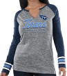 "Tennessee Titans Women's Majestic NFL ""Lead Play 3"" Long Sleeve Raglan Shirt"