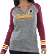 "Washington Redskins Women's Majestic NFL ""Lead Play 3"" Long Sleeve Raglan Shirt"