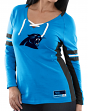 "Carolina Panthers Women's Majestic NFL ""Winning Style 2"" Long Sleeve V-neck Top"
