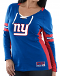 "New York Giants Women's Majestic NFL ""Winning Style 2"" Long Sleeve V-neck Top"