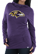 "Baltimore Ravens Women's Majestic NFL ""Great Play"" Cowl Neck Hooded Sweatshirt"