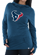 "Houston Texans Women's Majestic NFL ""Great Play"" Cowl Neck Hooded Sweatshirt"