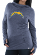 Los Angeles Chargers Women's Majestic NFL Great Play Cowl Neck Hooded Sweatshirt