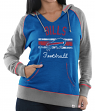 "Buffalo Bills Women's Majestic NFL ""Buttonhook"" Pullover Hooded Sweatshirt"