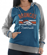 "Denver Broncos Women's Majestic NFL ""Buttonhook"" Pullover Hooded Sweatshirt"