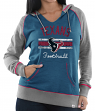 "Houston Texans Women's Majestic NFL ""Buttonhook"" Pullover Hooded Sweatshirt"