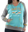 "Miami Dolphins Women's Majestic NFL ""Buttonhook"" Pullover Hooded Sweatshirt"