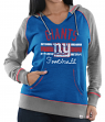 "New York Giants Women's Majestic NFL ""Buttonhook"" Pullover Hooded Sweatshirt"