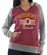 "Washington Redskins Women's Majestic NFL ""Buttonhook"" Pullover Hooded Sweatshirt"