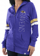"Baltimore Ravens Women's Majestic NFL ""Tradition"" Full Zip Hooded Sweatshirt"
