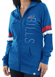 "Buffalo Bills Women's Majestic NFL ""Tradition"" Full Zip Hooded Sweatshirt"