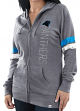 "Carolina Panthers Women's Majestic NFL ""Tradition"" Full Zip Hooded Sweatshirt"