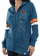 "Chicago Bears Women's Majestic NFL ""Tradition"" Full Zip Hooded Sweatshirt"