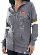 "Cleveland Browns Women's Majestic NFL ""Tradition"" Full Zip Hooded Sweatshirt"