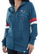 "New England Patriots Women's Majestic NFL ""Tradition"" Full Zip Hooded Sweatshirt"
