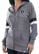 "Oakland Raiders Women's Majestic NFL ""Tradition"" Full Zip Hooded Sweatshirt"