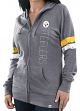 "Pittsburgh Steelers Women's Majestic NFL ""Tradition"" Full Zip Hooded Sweatshirt"