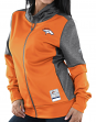 "Denver Broncos Women's Majestic NFL ""Quick Out"" Full Zip Sweatshirt"