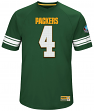 "Brett Favre Green Bay Packers Majestic NFL Men's ""HOF Hashmark 3"" Jersey Shirt"