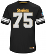 "Joe Greene Pittsburgh Steelers Majestic NFL Men's ""HOF Hashmark 3"" Jersey Shirt"