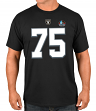 Howie Long Los Angeles Raiders Majestic Men's HOF Eligible Receiver 4 T-Shirt