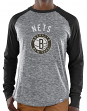 "Brooklyn Nets Majestic NBA ""Exposure"" Men's Long Sleeve Gray Slub Shirt"