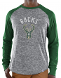 "Milwaukee Bucks Majestic NBA ""Exposure"" Men's Long Sleeve Gray Slub Shirt"