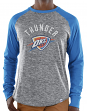 "Oklahoma City Thunder Majestic NBA ""Exposure"" Men's Long Sleeve Gray Slub Shirt"