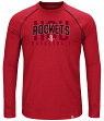 "Houston Rockets Majestic NBA ""Hit the Mark"" Men's Tri-Blend Long Sleeve T-Shirt"