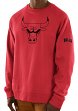 "Chicago Bulls Majestic NBA ""Team Back Up"" Men's Pullover Crew Sweatshirt"