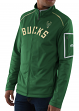 "Milwaukee Bucks Majestic NBA ""Stature"" Men's Full Zip Mock Neck Sweatshirt"