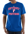 Detroit Pistons Majestic NBA Heart & Soul 3 Men's Short Sleeve T-Shirt
