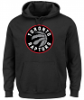 "Toronto Raptors Majestic NBA ""Current Tek Patch"" Men's Hooded Sweatshirt"