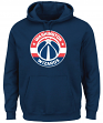 "Washington Wizards Majestic NBA ""Current Tek Patch"" Men's Hooded Sweatshirt"